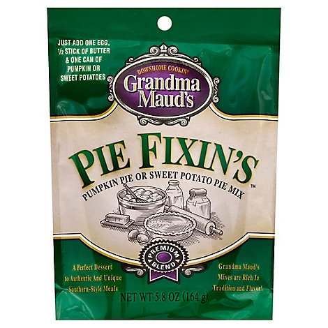 Grandma Mauds Pie Fixins Pie Mix Pumpkin Pie Or Sweet Potato - 5.8 Oz