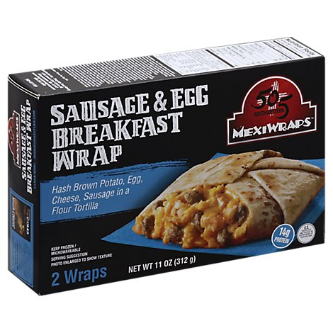 505 Southwestn Sausage And Ham Mexi Wrap - 11 Oz