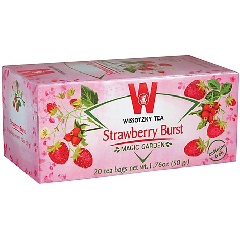 Wissotzky Caffeine Free Strawberry Burst Tea - 2.46 Oz