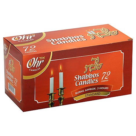 Ner Mitz Shabbos Candle - 72 Count
