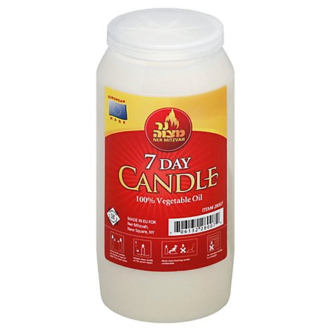 Ner Mitz 7 Day Plastic Candle - 1 Each