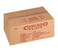 Chicago Flat Flatbread Garlic - 8 Oz