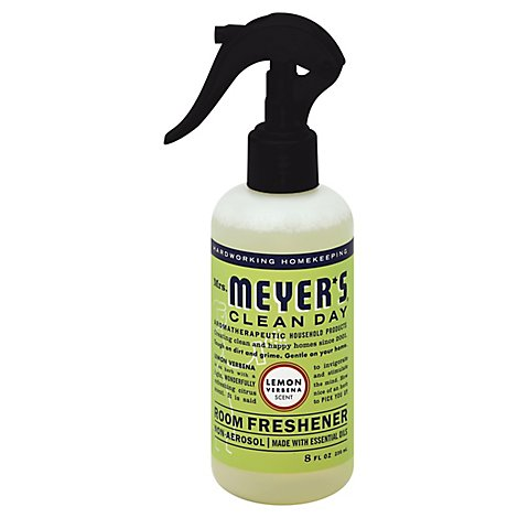 Mrs. Meyers Clean Day Room Freshener Lemon Verbena Scent 8 ounce spray bottle