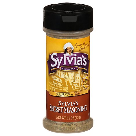 Sylvias Secret Seasoning Salt Free - 1.5 Oz