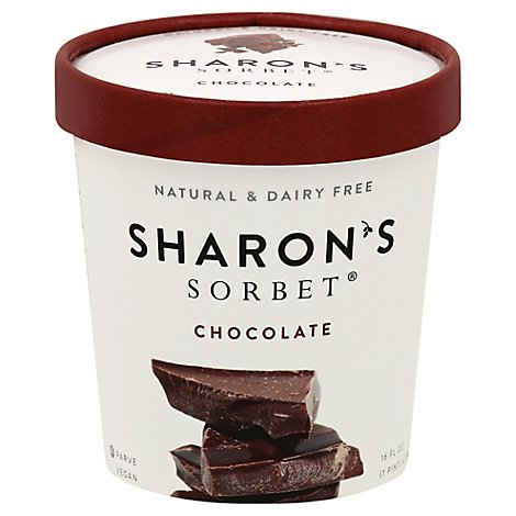 Sharons Chocolate Sorbet - 16 Oz