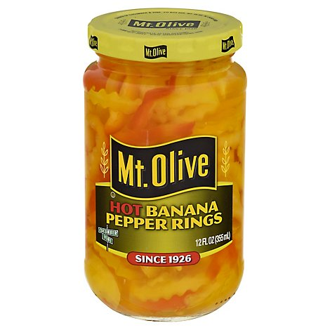 Mr Olive Hot Banana Pepper - 12 Fl. Oz.