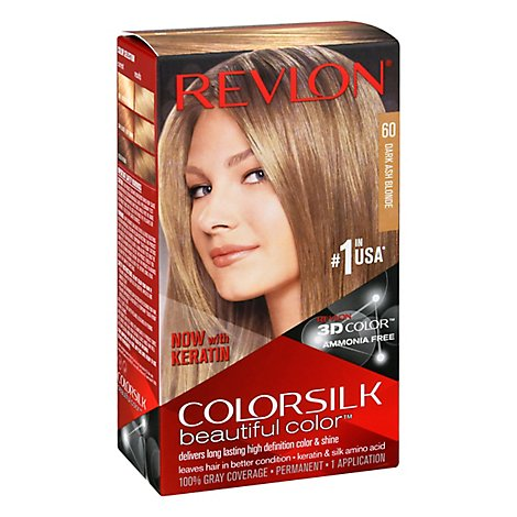 Revlon ColorSilk Hair Color Permanent Beautiful Color Dark Blondie 60 -  Each