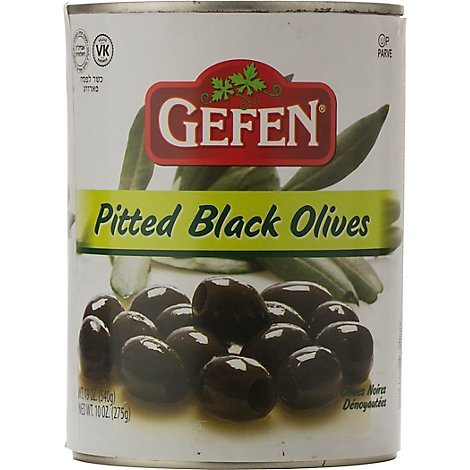 Gefen Olives Pitted Black - 19 Oz