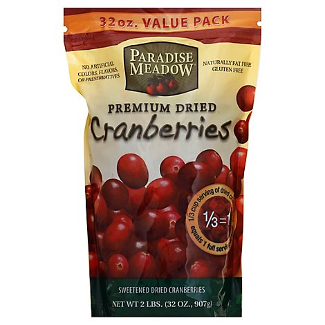 Paradise Meadow Sweet Dry Cranberry - 32 Oz