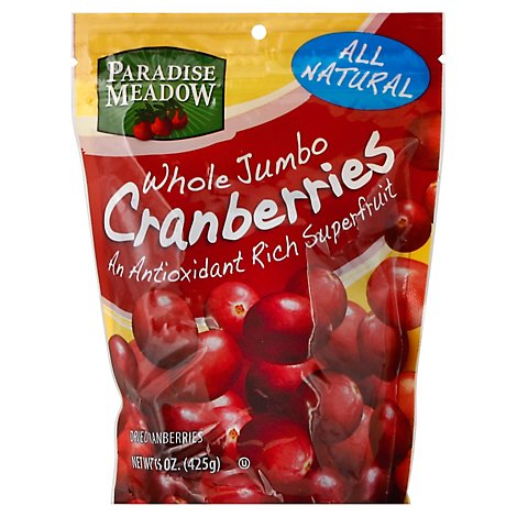 Paradise Meadow Whole Jumbo Dried Cranberries - 15 Oz