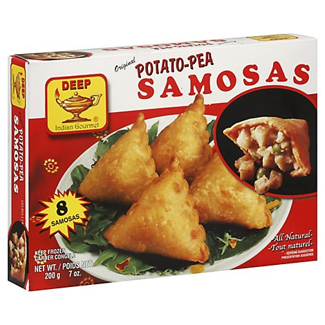 Deep Indian Gourmet Potato Pea Samosas - 7 Oz