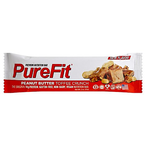 Pure Fit Peanut Butter Toffee Crunch Nutrition Bar - 2 Oz