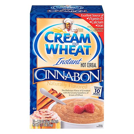 Cream of Wheat Cereal Hot Instant Cinnabon - 12.5 Oz