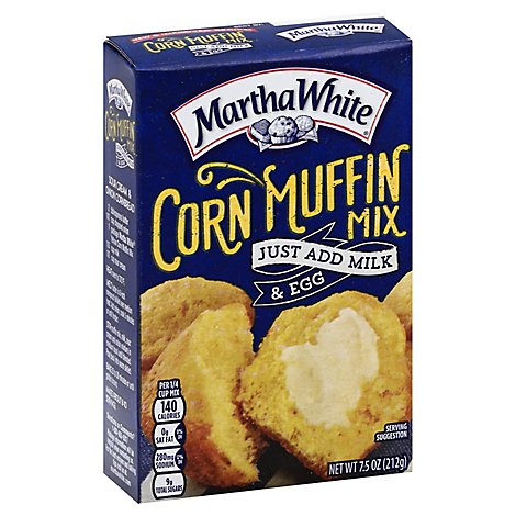 Martha Wh Corn Muffin Mix - 7.50 Oz
