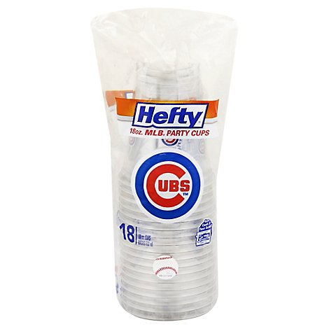 Hefty Party Cups 18 Ounce MLB Cubs Bag - 18 Count
