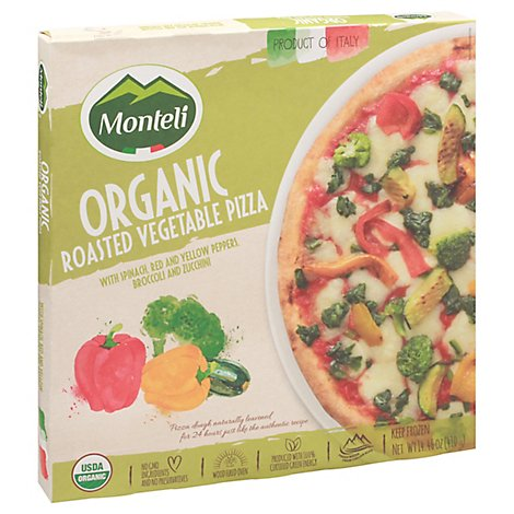 Monteli Pizza Organic Wf Rst Ve Frozen - 14.46 Oz