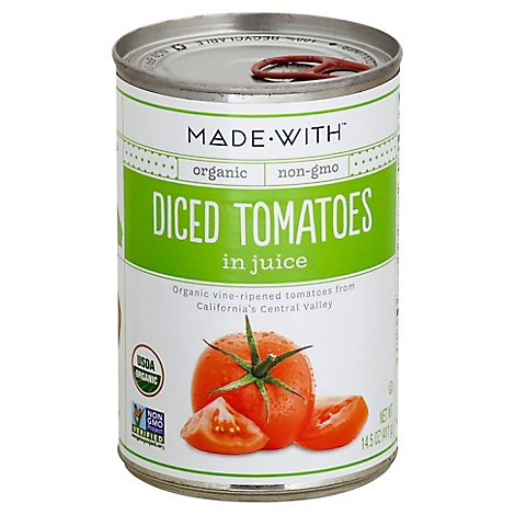 Made With Organic Diced Tomatoes - 14.5 Oz