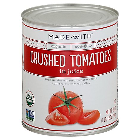 Made With Organic Crushed Tomatoes - 28 Oz