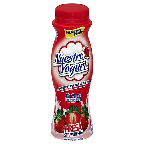 Nuestro Queso Yogurt Strawberry, 7 Oz - 7 Oz