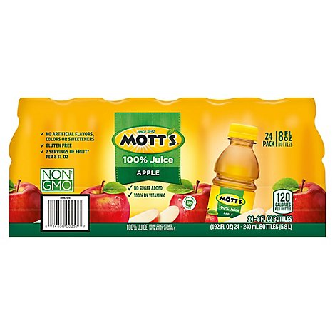 Mots 24 Count 100% Apple Juice - 24-8 Fl. Oz.