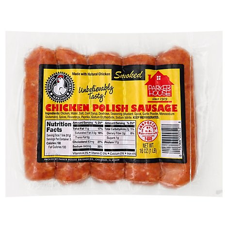 Parker House Chicken Polish - 1 Lb