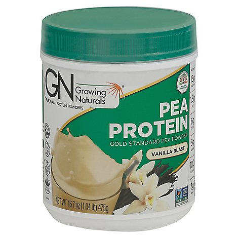 Growing Naturals Pea Protein Powder - 16.7 Oz