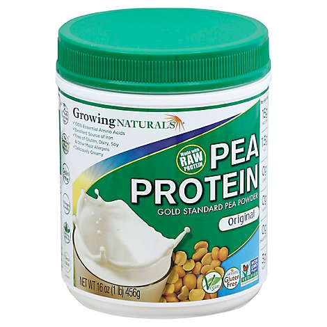 Growing Natural Protein Powder Pea Ylw - 1 Lb