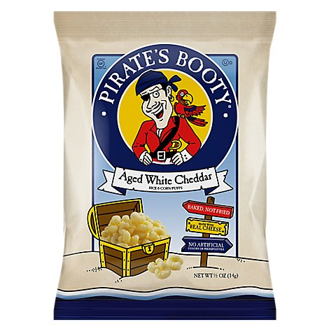 Pirates Booty Aged White Cheddar Rice & Corn Snack Bag - 0.5 Oz