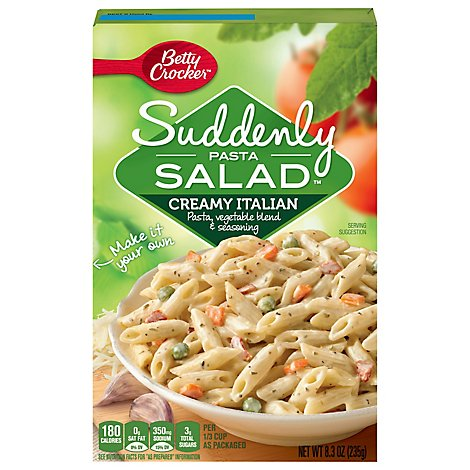 Betty Crocker Suddnely Salad Creamy Italian Pastea Side Dish - 8.3 Oz