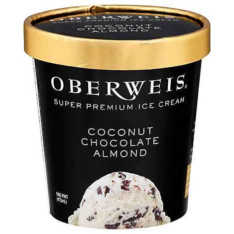 Oberweis Coconut Chocolate Ice Cream - 16 Oz