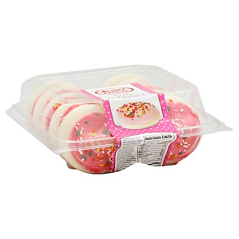 Pink Frosted Sugar Cookies 10ct - Each