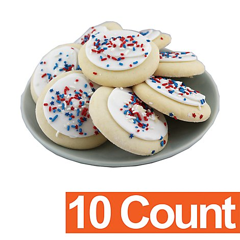 White Frosted Sugar Cookies 10ct - Each