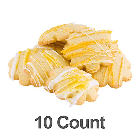 Bakery Cookies Frosted Sugar Lemon 10 Count - 13.5 Oz