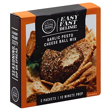 Just In Time Garlic Pesto Cheese Ball Mix - 1.58 Oz