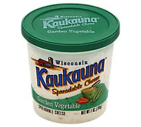 Kaukauna Garden Vegetable Spreadable Cheese Cup 7oz