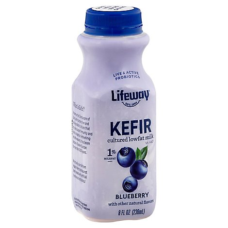 Lifeway Low Fat Blueberry Kefir Milk Smoothie - 8 Oz