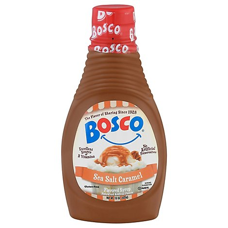 Bosco Sea Salt Caramel Ice Cream Topping Syrup - 15 Oz