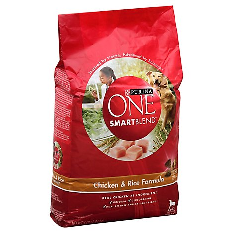One Dog Food Dry Smartblend Natural Chicken & Rice - 4 Lb
