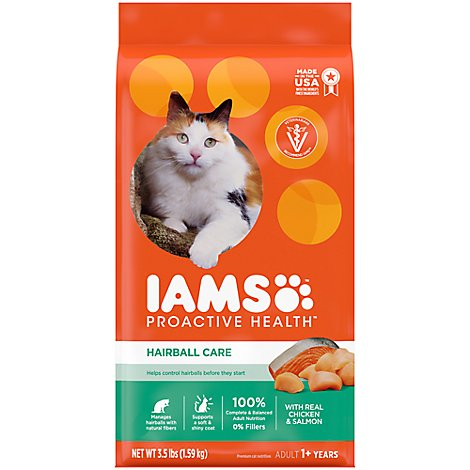 IAMS Proactive Health Cat Food Hairball Care - 3.5 Lb