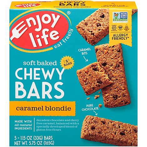Enjoy Life Caramel Blondie Baked Chewy Bars - 6 Oz