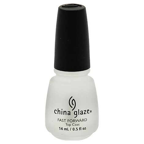 China Glaze Fast Forward Top Coat - .5 Fl. Oz.
