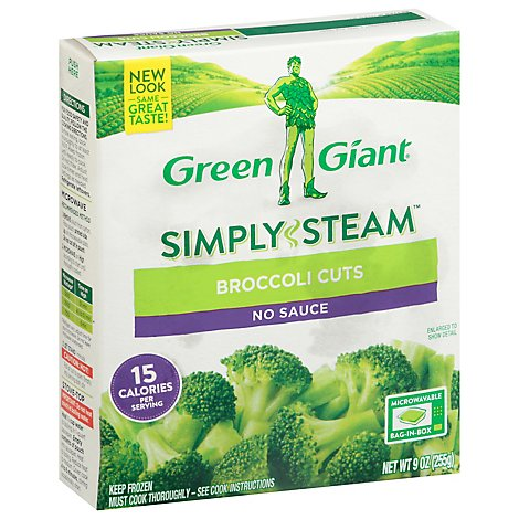 Green Giant Steamers Broccoli Cuts Plain - 9 Oz