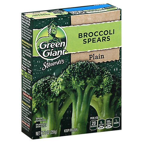 Green Giant Steamers Broccoli Spears Plain - 9 Oz