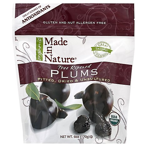 Made In Nature Organic Dried Plums - 6 Oz.