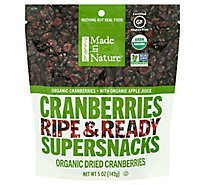 Made in Nature Supersnacks Cranberries Ripe & Ready - 5 Oz