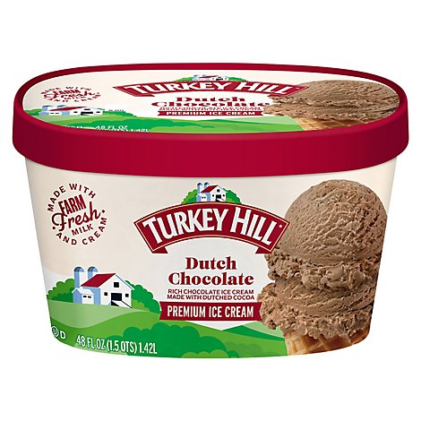 Turkey Hill Ice Cream Dutch Chocolate 1.50 Quart - 48 Fl. Oz.
