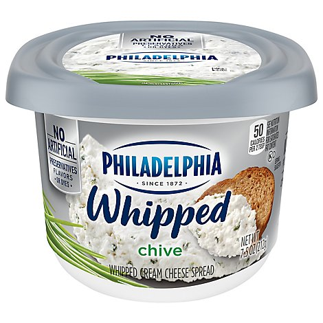 Philadelphia Cream Cheese Spread Whipped Chive - 7.5 Oz