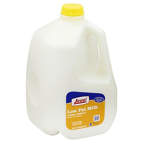 Jewel Low Fat 1% Milk - 128 Fl. Oz.