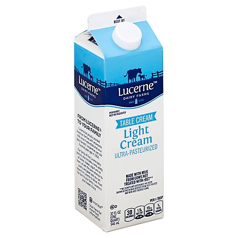 Lucerne Light Cream Ultra Pasteurized - 32 Oz
