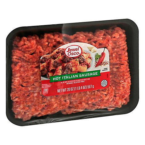 Jewel Hot Bulk Italian Sausage - 20 Oz
